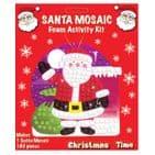 24 x Santa Mosaic Foam Activity Kit - Christmas Arts & Crafts